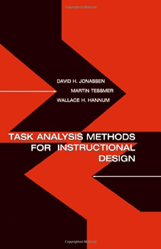 9780805830859: Task Analysis Methods for Instructional Design
