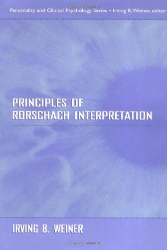 9780805831085: Principles of Rorschach Interpretation