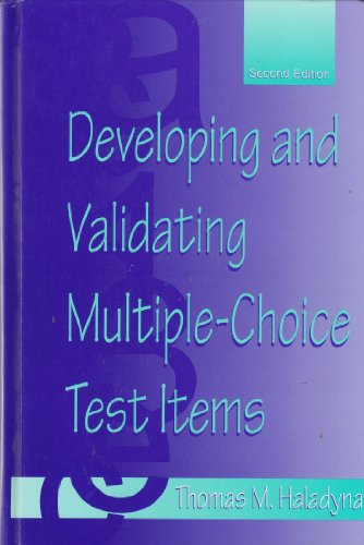 9780805831474: Developing and Validating Multiple-choice Test Items