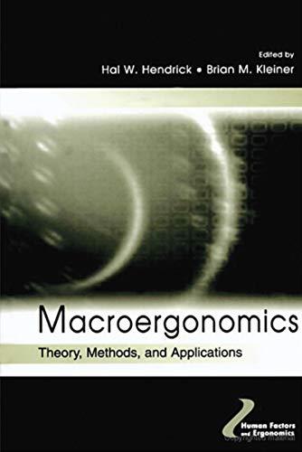 9780805831917: Macroergonomics: Theory, Methods, and Applications (Human Factors and Ergonomics)
