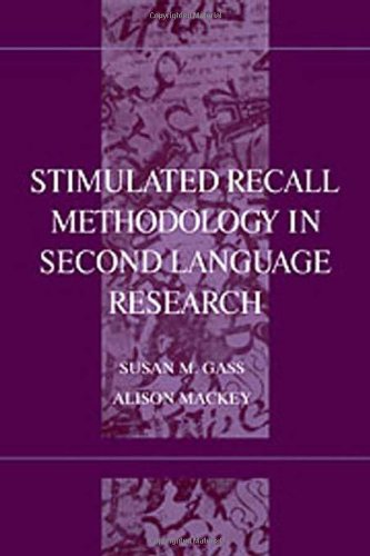9780805832235: Stimulated Recall Methodology in Second Language Research (Second Language Acquisition Research Series)