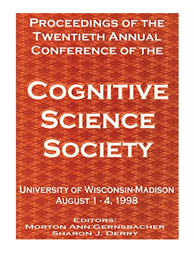 9780805832310: Proceedings of the Twentieth Annual Conference of the Cognitive Science Society (Cognitive Science Society (Us) Conference//Proceedings)