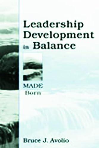 9780805832846: Leadership Development in Balance: MADE/Born