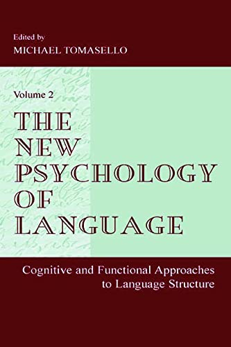 9780805834291: 2: The New Psychology of Language: Cognitive and Functional Approaches To Language Structure, Volume II