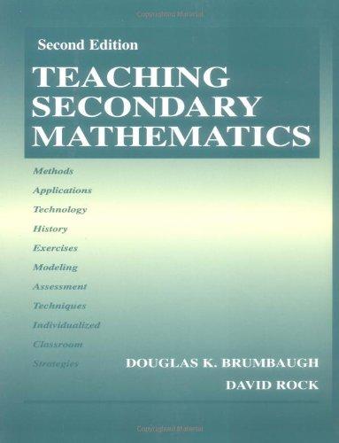 9780805835991: Teaching Secondary Mathematics