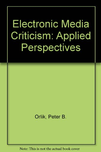 9780805836677: Electronic Media Criticism: Applied Perspectives