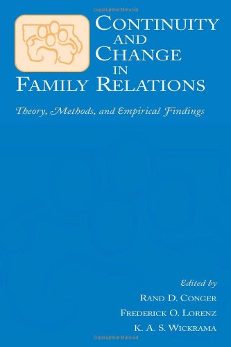 9780805836998: Continuity and Change in Family Relations: Theory, Methods and Empirical Findings (Advances in Family Research Series)