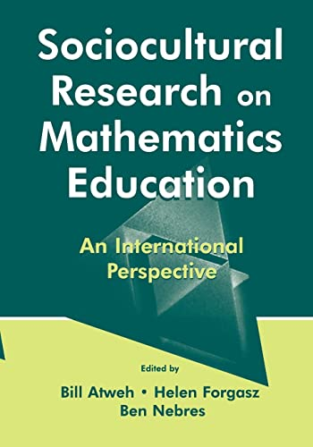 9780805837261: Sociocultural Research on Mathematics Education: An International Perspective