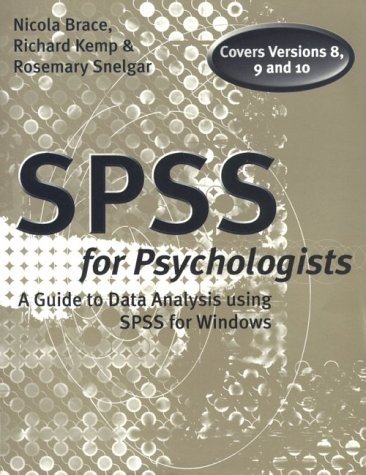 9780805837551: SPSS for Psychologists: A Guide to Data Analysis Using Spss for Windows