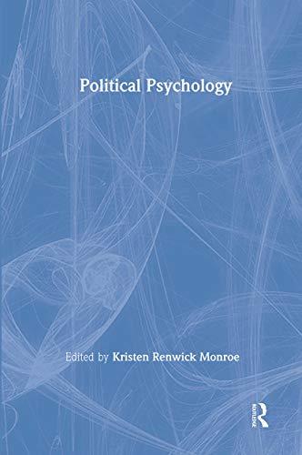 9780805838862: Political Psychology