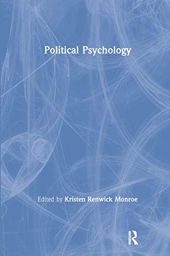 9780805838879: Political Psychology