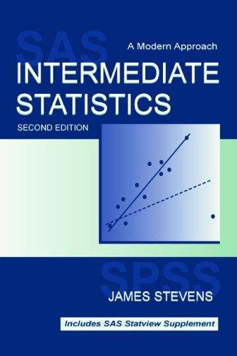 9780805838916: Intermediate Statistics: A Modern Approach
