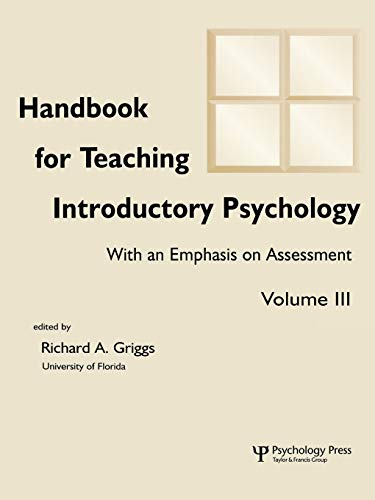 9780805839210: Handbook for Teaching Introductory Psychology, Vol. 3 (Volume 3)