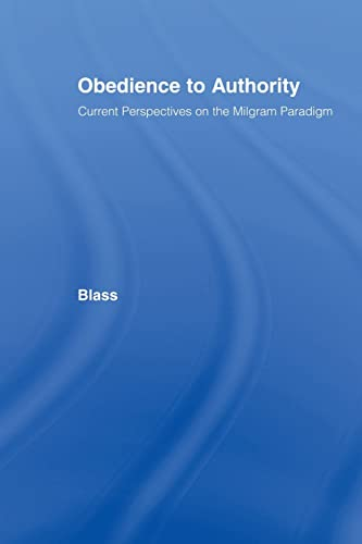 9780805839340: Obedience to Authority: Current Perspectives on the Milgram Paradigm