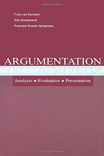 9780805839524: Argumentation: Analysis, Evaluation, Presentation (Routledge Communication Series)