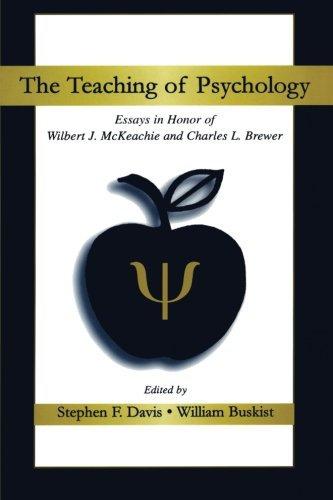 9780805839548: The Teaching of Psychology: Essays in Honor of Wilbert J. McKeachie and Charles L. Brewer