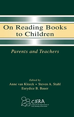 9780805839685: On Reading Books to Children: Parents and Teachers (Center for Improvement of Early Reading)