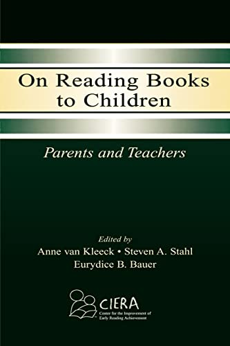 9780805839692: On Reading Books to Children: Parents and Teachers