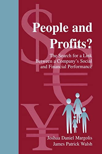 9780805840117: People and Profits: The Search for a Link Between a Company's Social and Financial Performance (Series in Organization and Management)