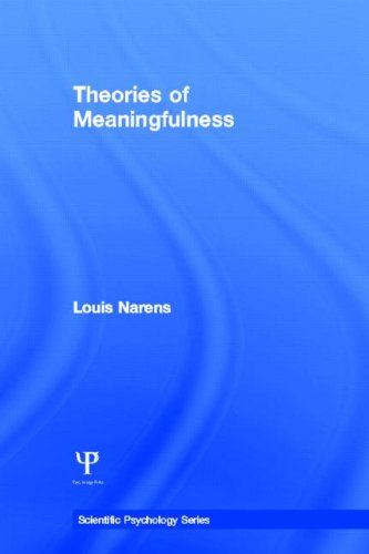 9780805840452: Theories of Meaningfulness (Scientific Psychology Series)