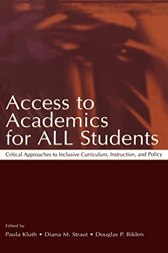 9780805841664: Access To Academics for All Students: Critical Approaches To Inclusive Curriculum, Instruction, and Policy
