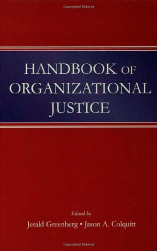 9780805842036: Handbook of Organizational Justice