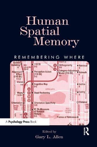 9780805842180: Human Spatial Memory: Remembering Where