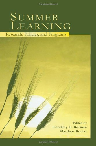 9780805842234: Summer Learning: Research, Policies, and Programs