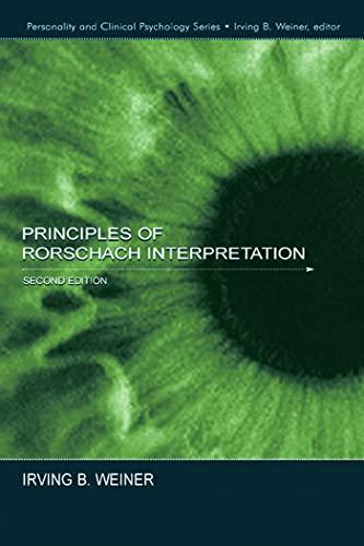 9780805842326: Principles of Rorschach Interpretation