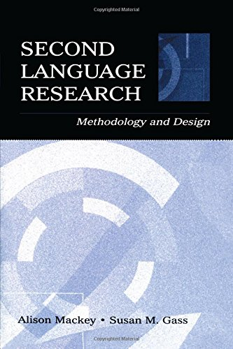 9780805842494: Second Language Research: Methodology and Design (Second Language Acquisition Re)