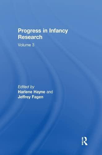 9780805843279: Progress Infancy Rsch Set V.1,2,3 Op: Progress in infancy Research: Volume 3 (Volume 1)