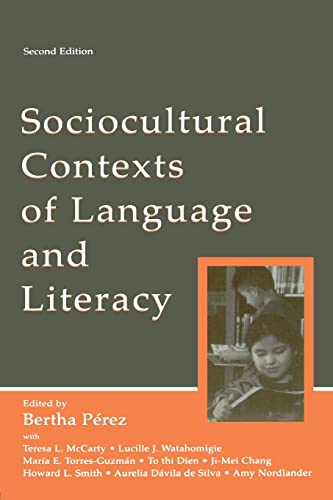 9780805843415: Sociocultural Contexts of Language and Literacy