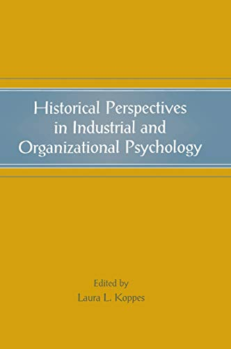 9780805844399: Historical Perspectives in Industrial and Organizational Psychology (Applied Psychology Series)