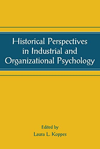 9780805844405: Historical Perspectives in Industrial and Organizational Psychology (Applied Psychology Series)