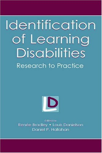 9780805844481: Identification of Learning Disabilities: Research To Practice (The LEA Series on Special Education and Disability)