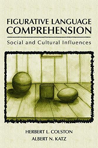9780805845068: Figurative Language Comprehension: Social and Cultural Influences