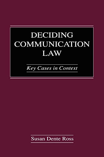 9780805846980: Deciding Communication Law: Key Cases in Context (Routledge Communication Series)
