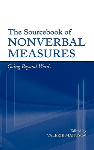 9780805847468: The Sourcebook of Nonverbal Measures: Going Beyond Words