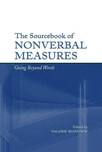 9780805847475: The Sourcebook of Nonverbal Measures: Going Beyond Words