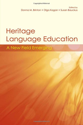 9780805848038: Heritage Language Education: A New Field Emerging