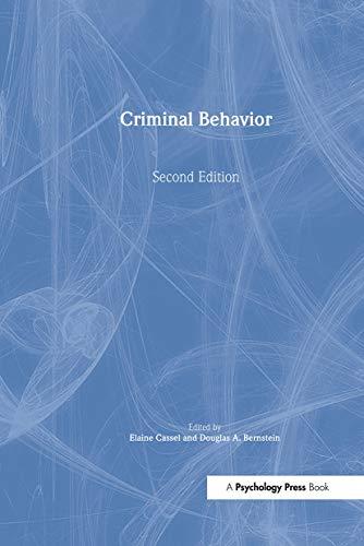 9780805848922: Criminal Behavior