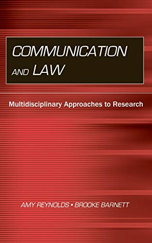 9780805849424: Communication and Law: Multidisciplinary Approaches to Research (Routledge Communication Series)