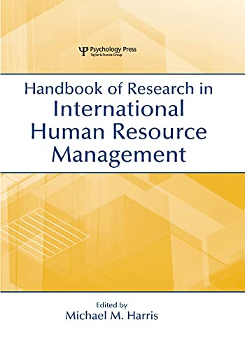9780805849493: Handbook of Research in International Human Resource Management (Organization and Management Series)