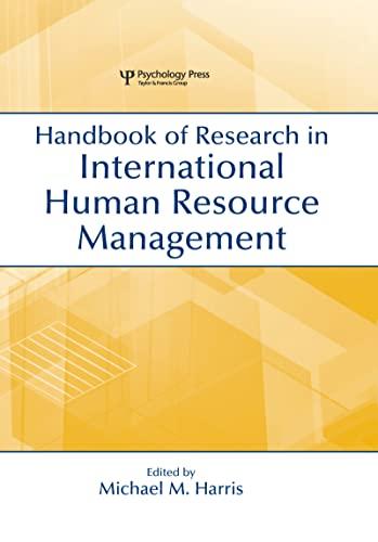 9780805849493: Handbook of Research in International Human Resource Management (Organization and Management Series)