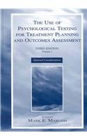 9780805850154: The Use of Pyschological Testing for Treatment Planning and Outcomes Assessment (2 Volume Set) (v. 1)