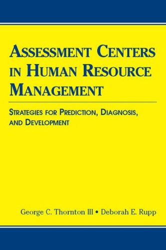9780805851243: Assessment Centers in Human Resource Management: Strategies for Prediction, Diagnosis, and Development (Applied Psychology)