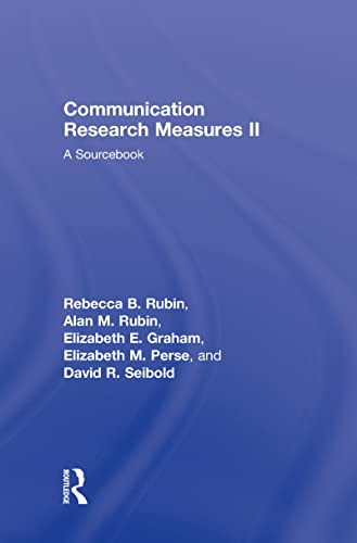 9780805851328: Communication Research Measures II: A Sourcebook (Routledge Communication Series) (v. 2)