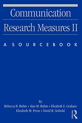9780805851335: Communication Research Measures II: A Sourcebook (Routledge Communication Series) (v. 2)
