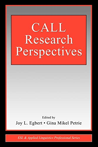 9780805851380: CALL Research Perspectives (ESL & Applied Linguistics Professional Series)