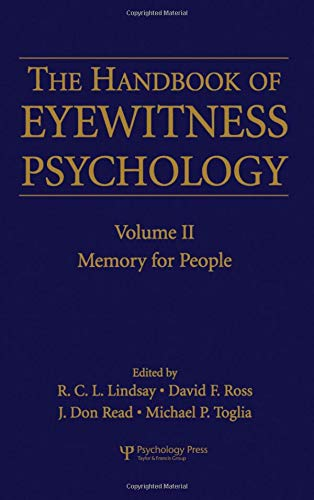 9780805851526: The Handbook of Eyewitness Psychology: Volume II: Memory for People: Volume 2